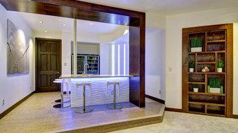 Basement Bar & Shelves