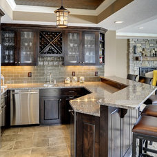 Traditional Home Bar by Gonyea Homes & Remodeling