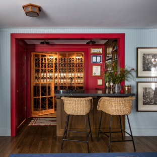 Basement Bar of a historic Craftsman residence in Santa Monica, CA