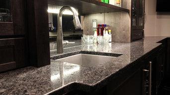 Basement Bar - Silver Pearl Granite