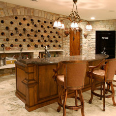 Traditional Home Bar by SP Group Inc,