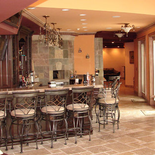 Basement Bar with Pizza Oven