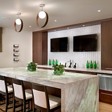 Contemporary Home Bar by Wood inc.