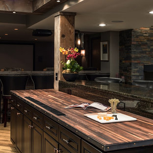 Basement Design + Build - Walnut Butcher Block countertop