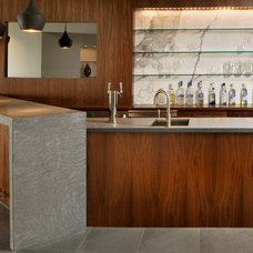 Contemporary Home Bar by BARRETT STUDIO architects