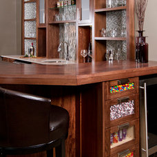 contemporary home bar by Sethbennphoto