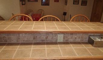 basement remodel..... tile bar and floor