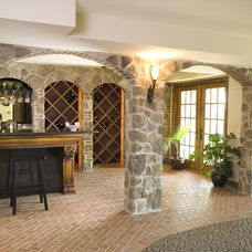 Traditional Basement by Penn Contractors Inc