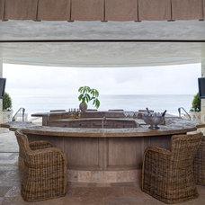 Mediterranean Home Bar by Homer Oatman, AIA