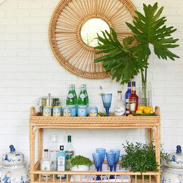 Beach Style Home Bar