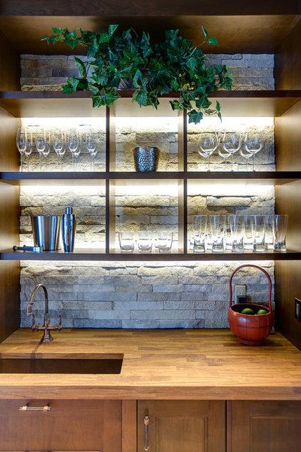 Contemporary Home Bar by 186 Lighting Design Group - Gregg Mackell