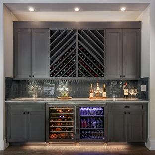 Home bar - transitional home bar idea in Seattle