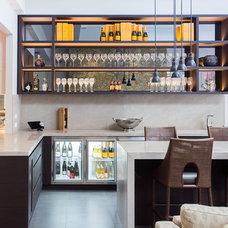 Contemporary Home Bar by Austin Design Associates