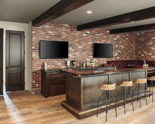 grand bar de salon industriel photos et id es d co de. Black Bedroom Furniture Sets. Home Design Ideas