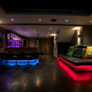 Contemporary home bar in London.
