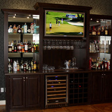 Traditional Home Bar by Valet Custom Cabinets & Closets