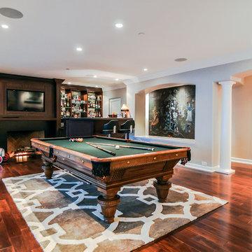 Billiard Room With Full Bar