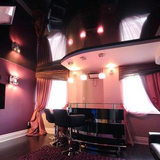 Black Gloss Stretch Ceiling adds Polish to Home Bar