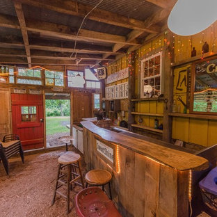 Rustic Home Bar Design Ideas & Remodeling Pictures | Houzz
