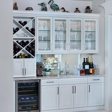 Bonita Bay, FL Transitional Kitchen and Entertainment Space