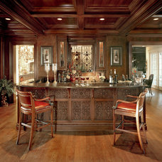Traditional Home Bar by Studer Residential Designs