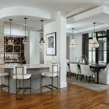 Brookhaven Model Home - Wet Bar, Wine Storage, and Dining