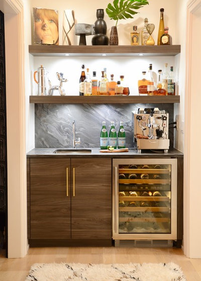 Contemporary Home Bar by d2 interieurs
