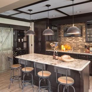 75 Most Popular Home Bar With Mosaic Tile Backsplash Design Ideas
