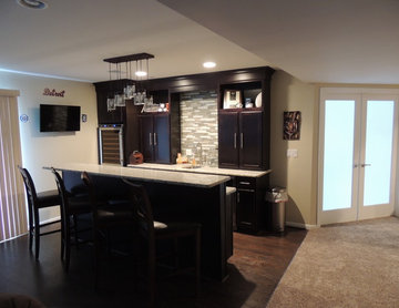 Brown Finished basement