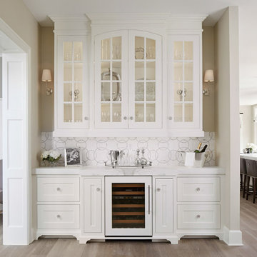 Butler's Pantry with Glass Doors