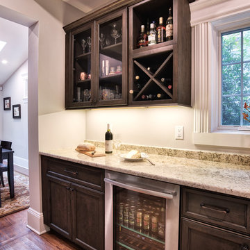 Butler's Pantry with Wine Refrigerator