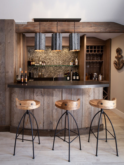 Beach style home bar design ideas remodels photos - Home bar design ...