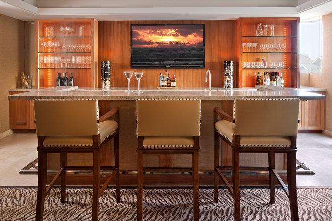 Contemporary Home Bar by Tom Stringer Design Partners