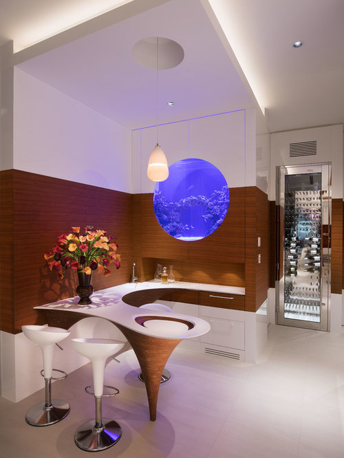 moderne hausbar mit quarzit arbeitsplatte einrichten ideen design bilder houzz. Black Bedroom Furniture Sets. Home Design Ideas