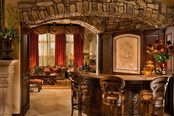 Mediterranean Family Room by Obvious Flair Interior Design
