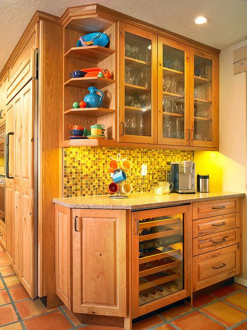 Southwestern home bar design ideas remodels photos with for Southwestern flooring