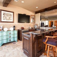 Traditional Home Bar by Prairie Design Build Inc