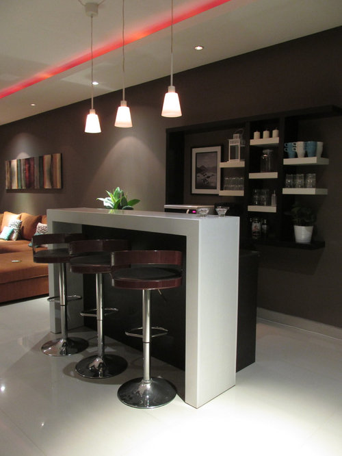 bar de salon moderne photos et id es d co de bars de salon. Black Bedroom Furniture Sets. Home Design Ideas