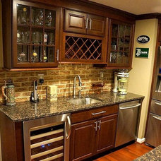 Transitional Home Bar by Homestyle Kitchens & Baths