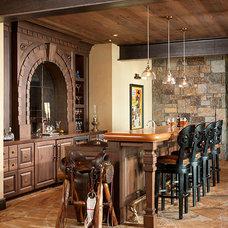 Rustic Home Bar by Montana Rockworks, Inc