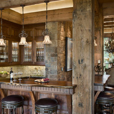 Rustic Home Bar by Locati Architects