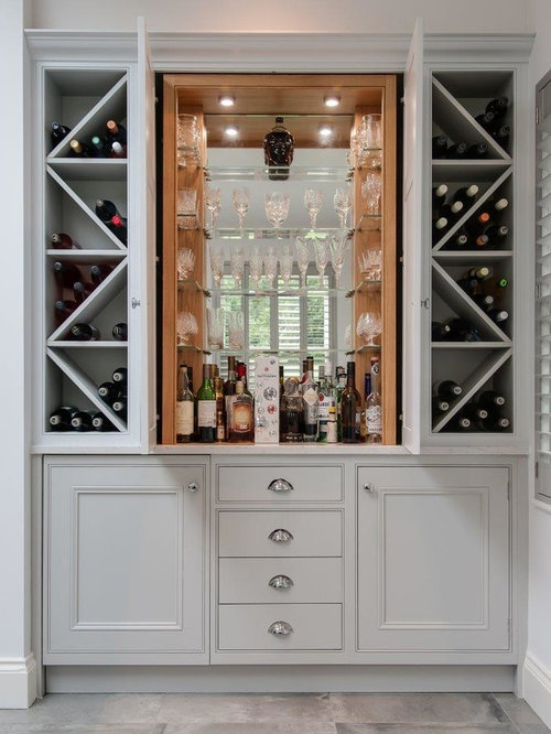design ideas for a large classic u shaped home bar in hertfordshire with an integrated - Bar Design Ideas For Home