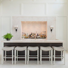Traditional Home Bar by Palindrome Design, LLC