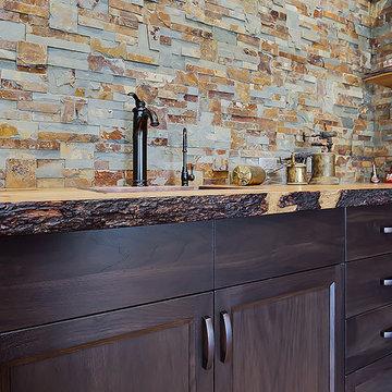 Classic Kitchen Reno with Live edge Counters
