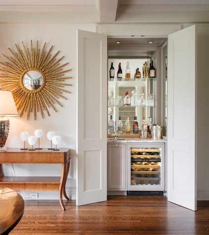 Traditional Home Bar by Sutro Architects
