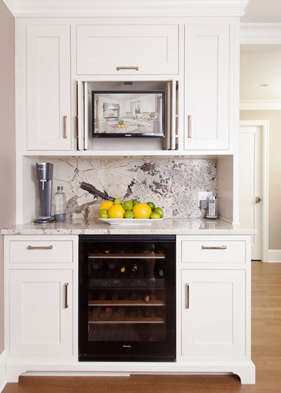 American Traditional Home Bar by V6B Design Group -  Kitchens & Fine Cabinetry