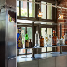 Industrial Home Bar by Muratore Construction + Design