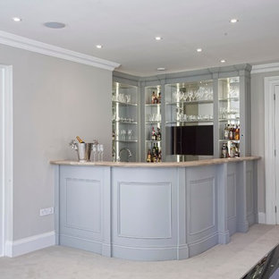 Photo of a classic home bar in Other.