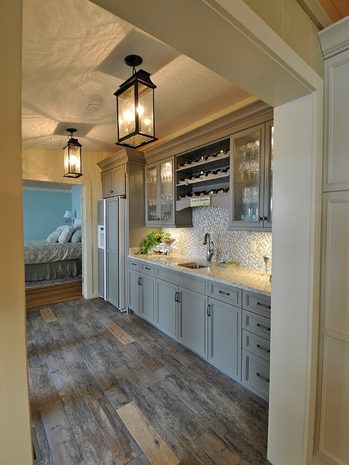 Beach style home bar design ideas remodels photos with green cabinets - Home bar styles ...