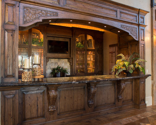 Rustic Home Bar Design Ideas Remodels Photos With Furniture Like Cabinets
